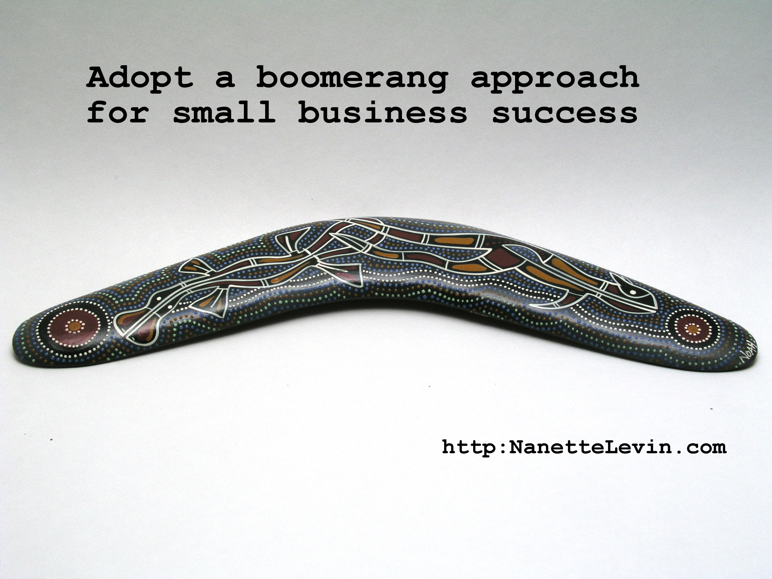 Small business success can boomerang when you're creative