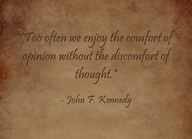small business marketing insight from John F. Kennedy