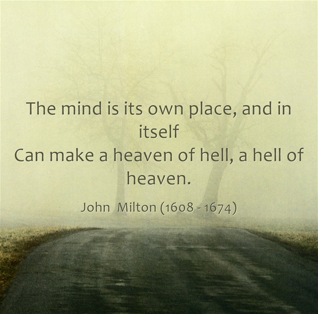 Milton quote offers insight into small business owner mindset. Visit http://NanetteLevin.com for tips on enjoying the solvent small business you create.