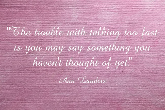 Ann Landers had great advice for small business marketing http://NanetteLevin.com